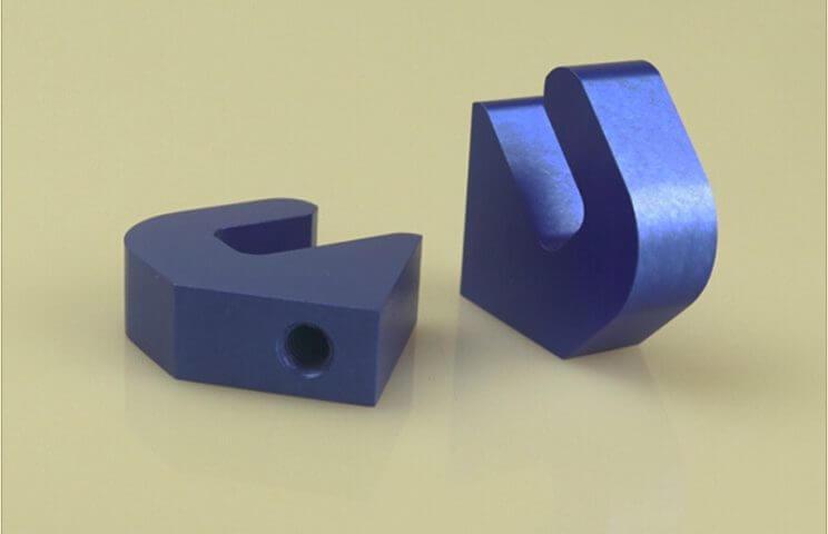 Blue Anodized Aluminum Machining Part